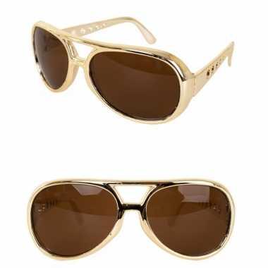 4x stuks gouden elvis verkleed bril