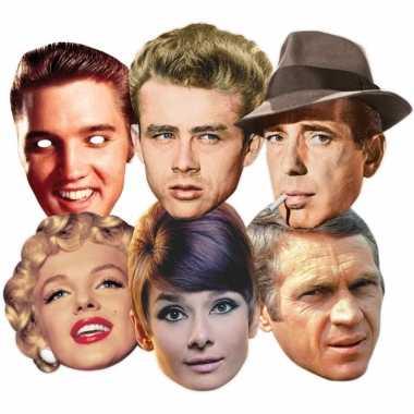 Maskertjes met hollywood sterren